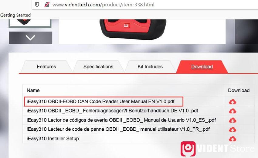 Vident Ieasy310 Update Language 01