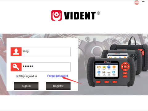 Vident Lost Password