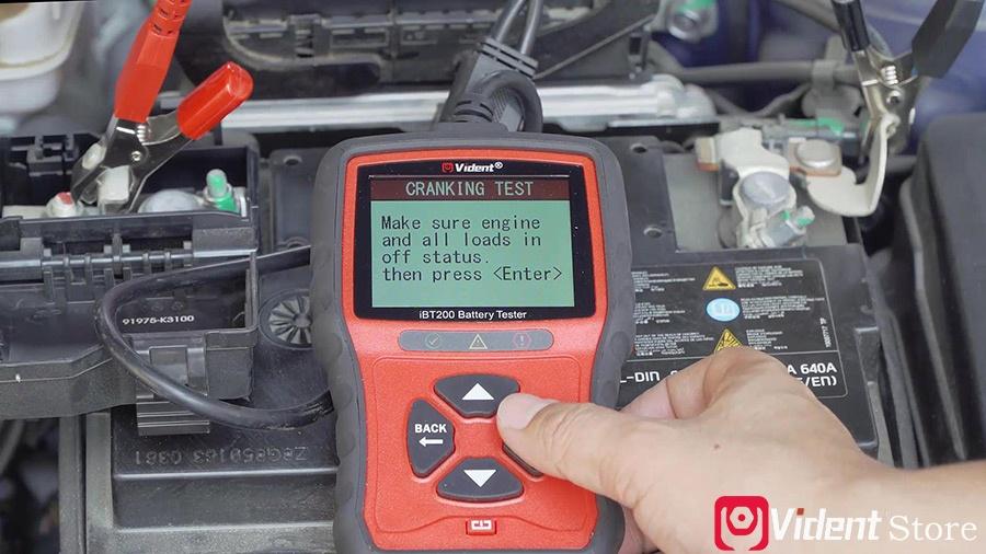 Use Vident Ibt200 9v 36v Battery Tester 11
