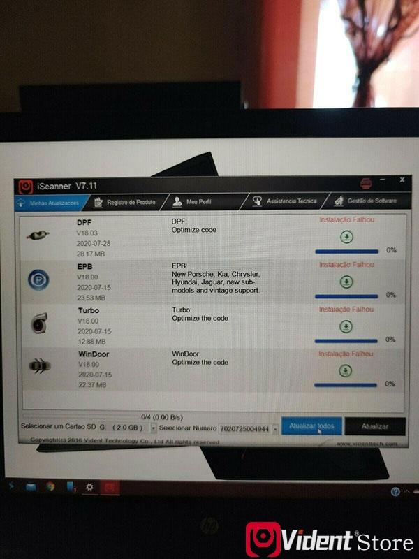 Vident Iauto702 Pro Update Error Solution 1